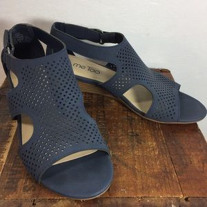 Me too blue sandals womens Bianca shoes 6.5